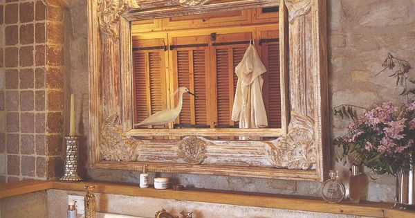 BOISERIE & C.: Bagno: la matericità dello stile provenzale  interni  Pinterest  Bagno e Stiles