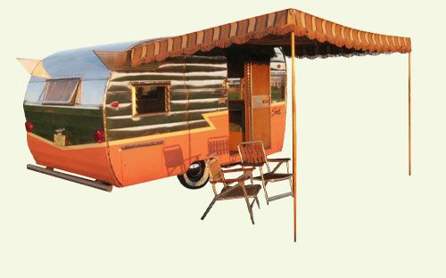 Marti S Vintage Trailer Awnings Trailer Awning Vintage Travel Trailers Camper Awnings