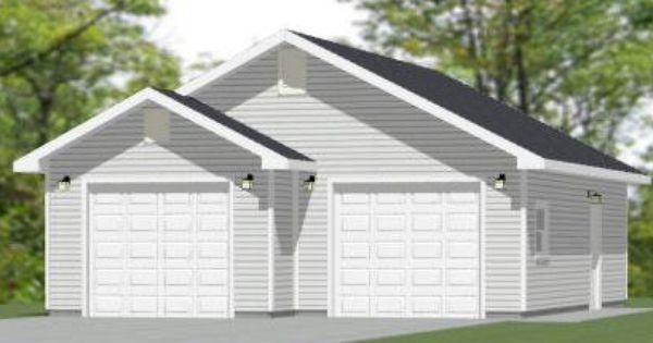 28x36 2 Car Garage 28x36g1 951 Sq Ft Excellent Floor Plans Garage Plans Garage House Plans House Plan With Loft