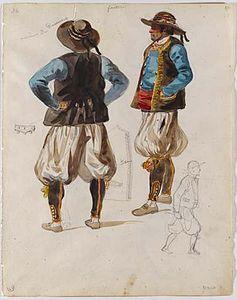 François,Hippolyte Lalaisse Étude du costume de Douarnenez