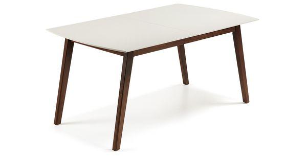 Table extensible avec structure en bois de noyer americain for Table 6 personnes longueur