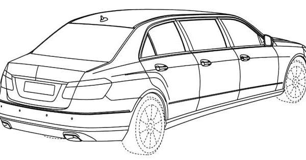 mercedes limousine coloring page