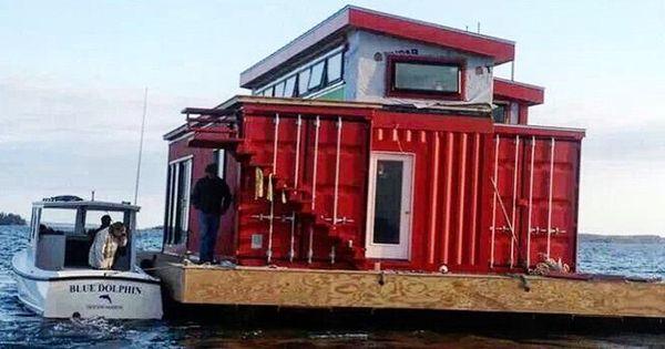 Maison container bateau container pinterest for Maison container 95