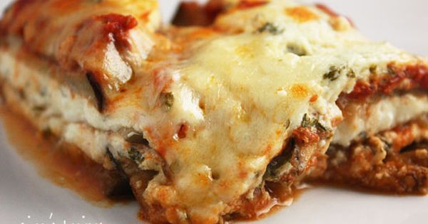 Lighter Eggplant Parmesan | Skinnytaste- so yummy! Next time I'll use more