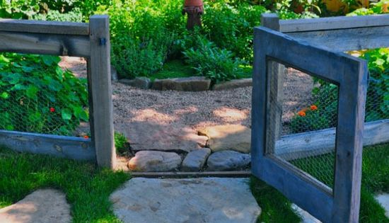 Chicken Wire and Reclaimed Wood Fence | DIY Backyard Ideas on a
