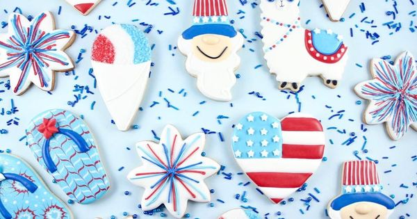 Pin On Cookies Patriotic 4th Of July