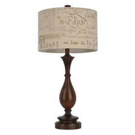 Decor Therapy Selene 29 25 In Wood Tone 3 Way Table Lamp With
