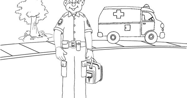 paramedic coloring pages - paramedic printables colouring pages activities kid