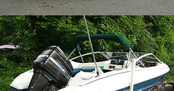1991 Bayliner 17 Capri With 70 Hp Outboard And Including Trailer Ebay Auction Outboard Outboard Boats Boat Crafts