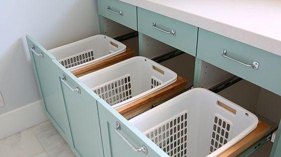 les meilleures id es pour ranger et organiser la buanderie astuces rangement bac et. Black Bedroom Furniture Sets. Home Design Ideas