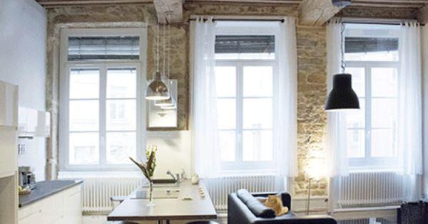 Appartement contemporain cuisine ouverte bar am ricain for Cuisine ouverte bar americain