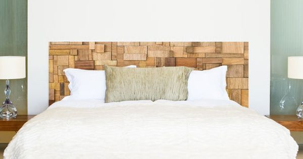 sticker t te de lit bois patchwork lit bois tete de et t tes de lit en bois. Black Bedroom Furniture Sets. Home Design Ideas