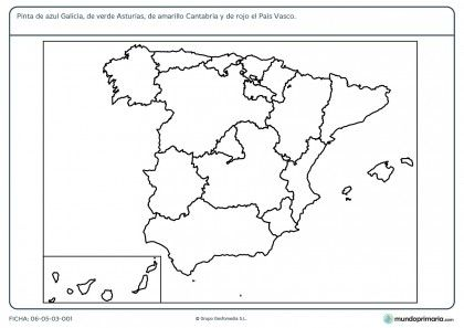 Fichas Para Imprimir Para Niños De Primaria Ciencias Sociales Fichas Mapa De España