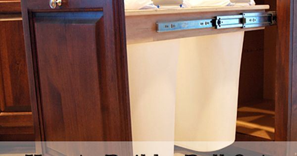 DIY Pull Out Trash and Recycling bin kitchen cabinet