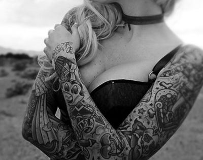 Tattoo sleeves on a pretty lady Amazing site and an astonishing 30,000