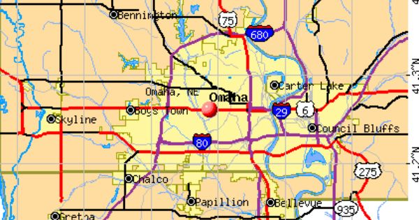 Omaha Ne Map Nebraska Omaha Map