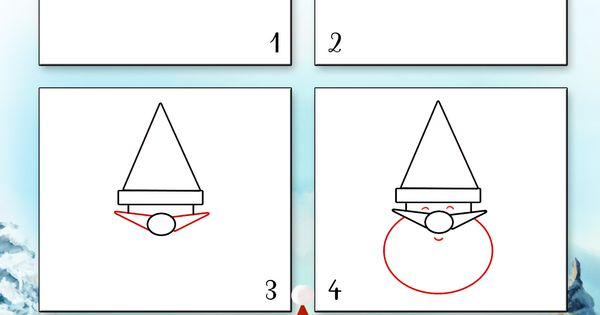 Dessin1 comment dessiner le visage du p re no l facilement bricolage pinterest comment - Comment dessiner un pere noel facilement ...