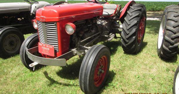 1956 Massey Ferguson 40 Tractor : Red deluxe ferguson massey pinterest