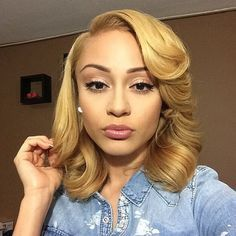Love This Blonde Hair Color I Might Do This Style For The