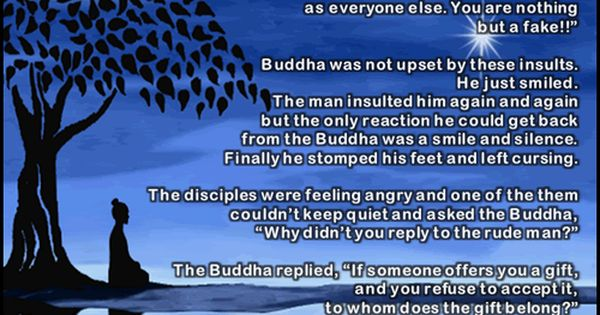 Short Story on anger and gift by Gautam Buddha stories ...