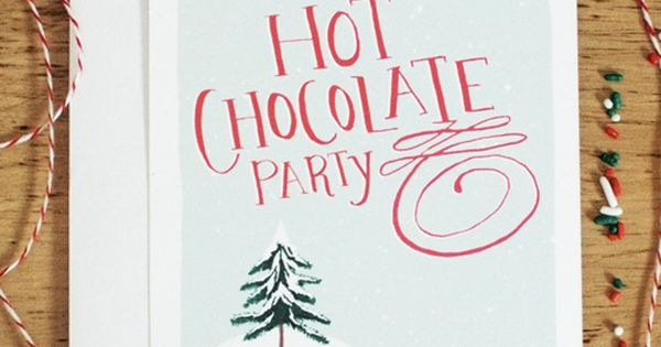 Adorable free printable Hot Chocolate Party invitation & party ideas