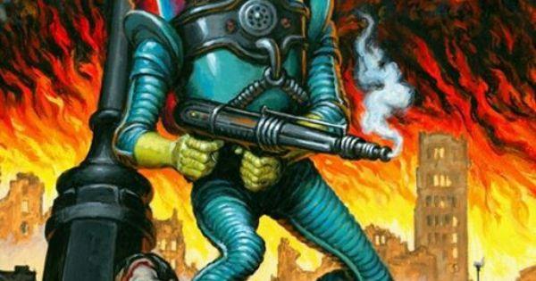 Mars attacks invasion artwork by earl norem every for Pinterest obras de arte