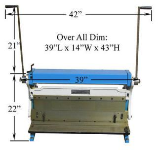 30 X 20 Gauge Sheet Metal Shear Finger Pan Box Brake Bender Slip Roll Sheet Metal Shear Metal Bending Sheet Metal