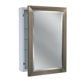 Allen Roth 22 25 In X 30 25 In Rectangle Surface Mirrored Steel Medicine Cabinet 6288 Surface Mount Medicine Cabinet Medicine Cabinet Mirror Bathroom Mirror Makeover