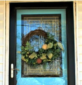 Best Way To Hang A Wreath On A Glass Storm Door Glass Storm