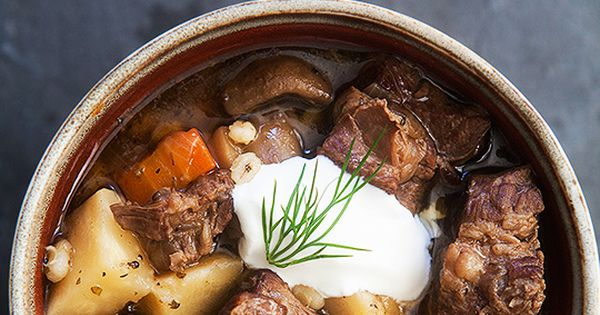 Beef and Barley Stew with Mushrooms | Recipe | Stew, Beef and ...