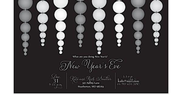 New Years Eve Wedding Invitations with nice invitation design