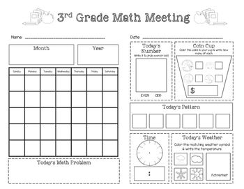 Teaching Resources Lesson Plans Teachers Pay Teachers Saxon Math Math Meeting 3rd Grade Math