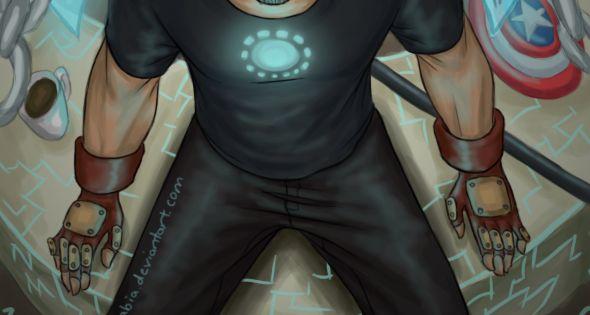 Hot! Tony by ~Itabia MARVEL COMICS.