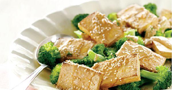 Tofu grill et brocoli vapeur sauce aux arachides - Cuisine asiatique vapeur ...