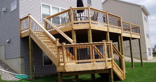 Stairs Coming Off The Back Of Deck Multi Level Picture Gallery Outdoor Improvements