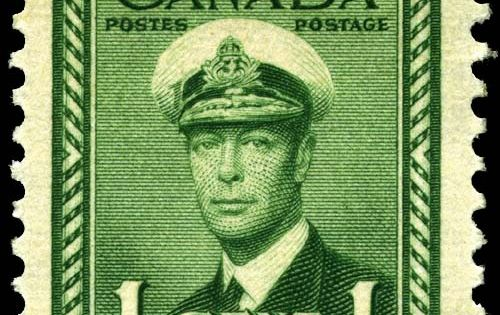 A George Vi 1 Cent Stamp Of 1942 Timbres Rare Pinterest Canada Stamps And Search