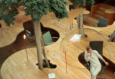 Natural Office Design with Principle of the Hemisphere – Architects Pons &