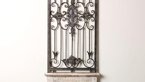 Elegant Iron Wall Decor : This elegant design of the baroness metal wall art