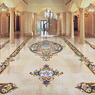 Ornate Luxury Marble Inlay Floors For Estate Home Aalto Marble