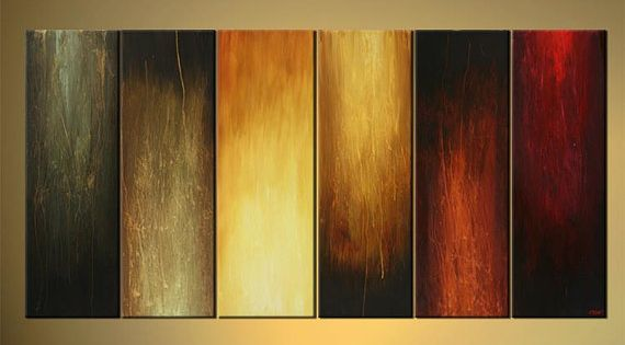 Abstract wall art painting - Multipanel Abstract Painting Original Wall Decor By