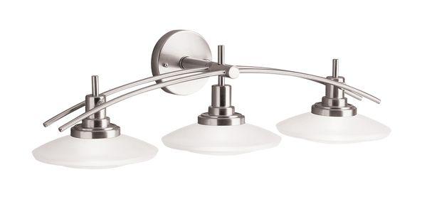 Structures Collection 3 Light Halogen Bath Fixture In Brushed Nickel Kichler Lighting