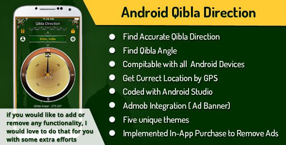 Qibla Compass \/ Direction (Android Studio)  App Will give you - leave application template