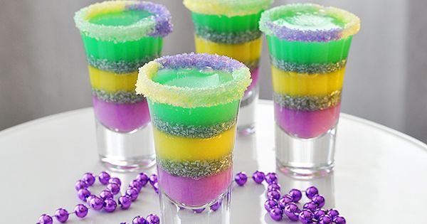 King Cake Jello Shot Recipe: Shot Glasses, Glitter And