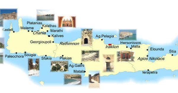 Cartina Geografica Dell Isola Di Creta.Mappa Creta Cartina Di Creta Creta Viaggi Mappa