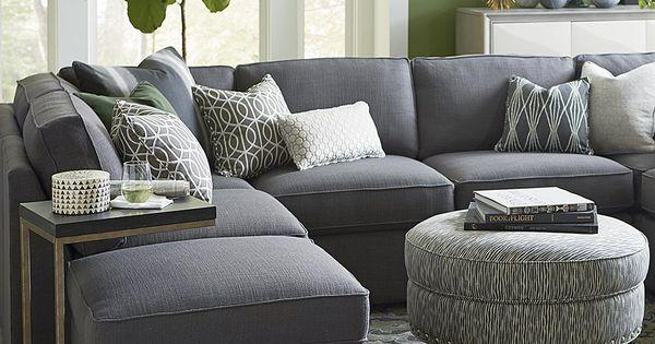 U shaped sectional bassett home sweet home pinterest for U shaped living room