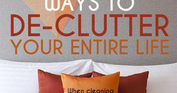 34 Ingenious Ways To De-Clutter Your Entire Life declutter interior design interiordesign