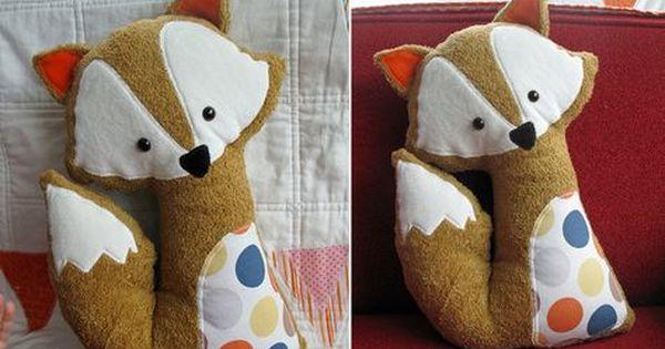 Ein Dickes Dankeschon Fuchs Kissen Kuscheltier Nahen Bastelideen