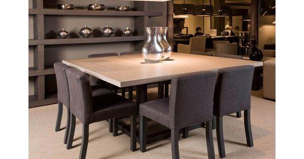 Et pourquoi pas une table carr e 8 personnes a voir suivant disposition - Table salle a manger carree 8 personnes ...