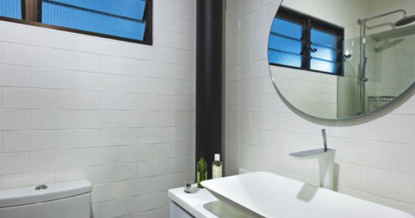 Bathroom In White And Black Expose Piping Hdb Home Decor