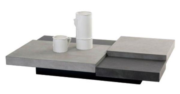 Table Basse Decalo Meubles En Beton Table Basse Contemporain